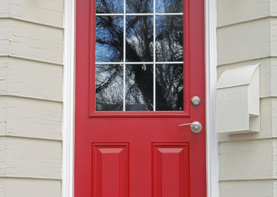 Front Red Door Close Up